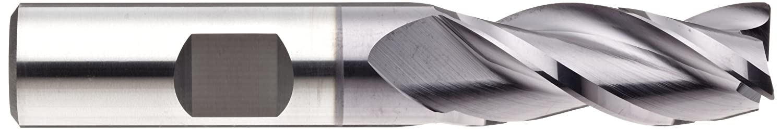 YG-1 E5104 Carbide Corner Radius End Mill 2.75 Overall Length Non-Center Cutting 3 Flutes 0.4375 Shank Diameter Weldon Shank 0.4375 Cutting Diameter 0.030 Corner Radius TIALN Multilayer Finish 35 Deg Helix
