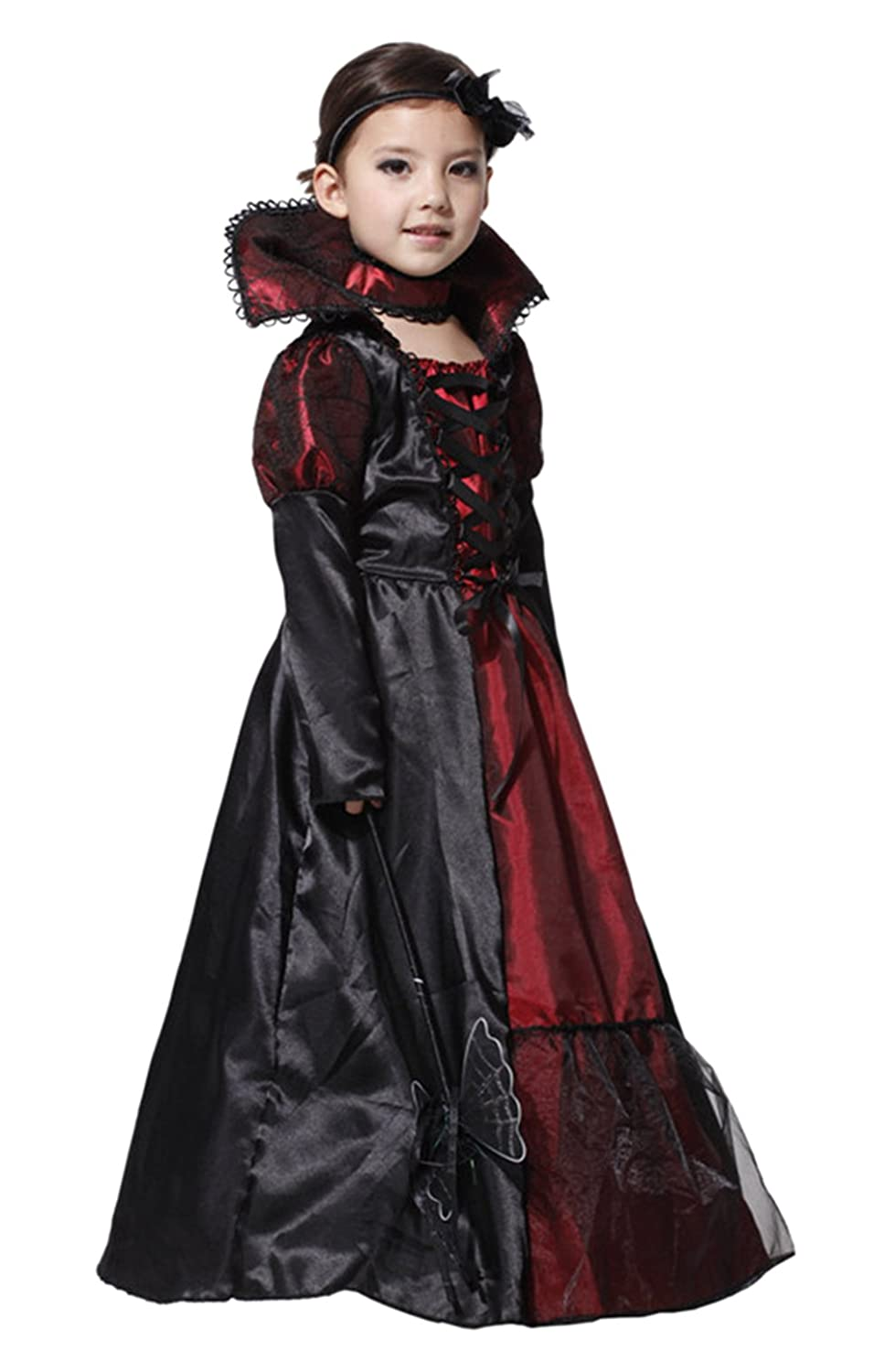 Royal Vampire Costume Set for Girls Halloween Dress Up Party Vampire-Themed Party Role-Playing Carnival Cosplay