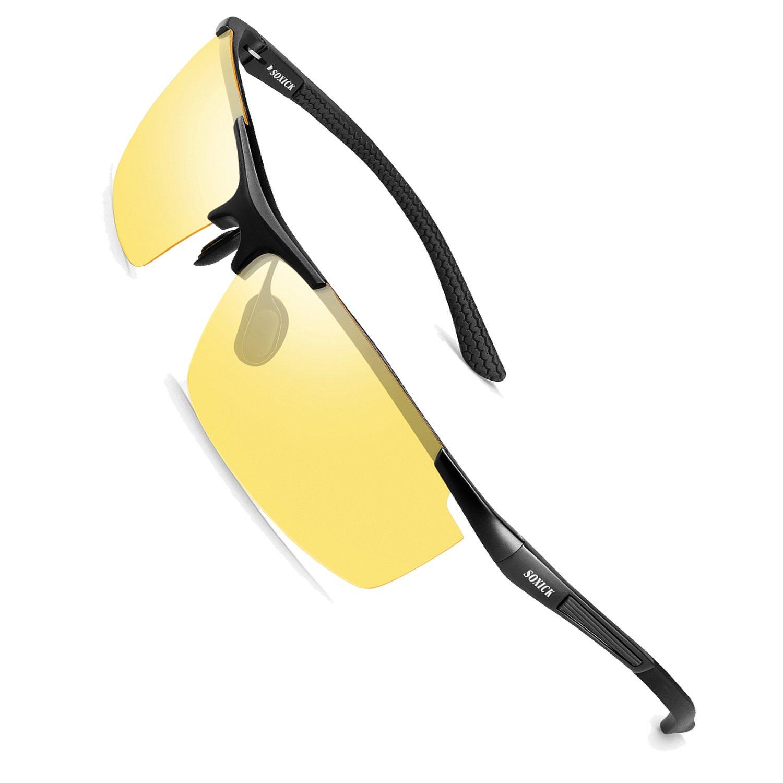 Soxick Night Driving Polarized Glasses for Men Women Anti Glare Rainy Safe HD Night Vision HOT Fashion Sunglasses