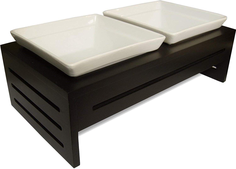 ProsperDog Elevated Dog Dish Pet Food Bowls With Stand, Raised Ceramic Cat Dishes Holder Set, Pet Feeding Station