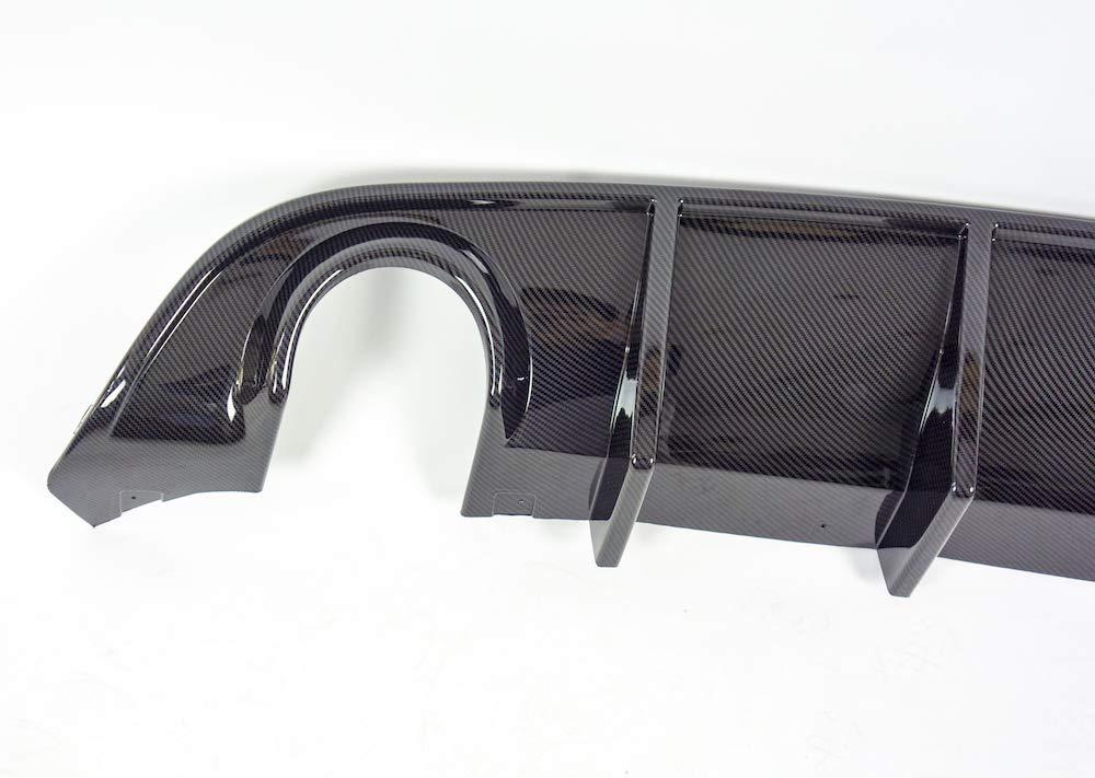 NO7RUBAN Rear Bumper Diffuser Fits 2015-2019 Dodge Charger SRT Carbon Fiber Style PP Splitter Spoiler Valance Chin Diffuser Body kit Black