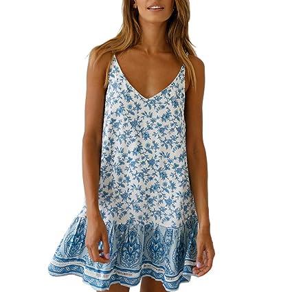wave166 Vestido,2019 Primavera y Verano Vestido de Las señoras Mini Vestido con Hombros Descubiertos Falda de señora Ropa de Mujer Dia de San Valentin ...