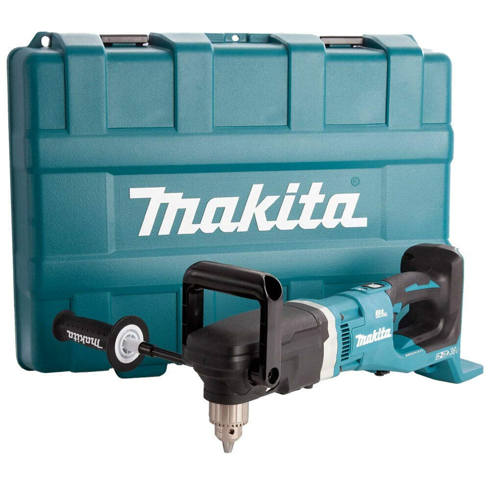 Makita DDA460ZK 36V Twin LXT Cordless Brushless Angle Drill with Case Body Only