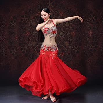 KLMWDDPWY Danza del Vientre Mujer Ropa para Danza Y Danza Ropa ...