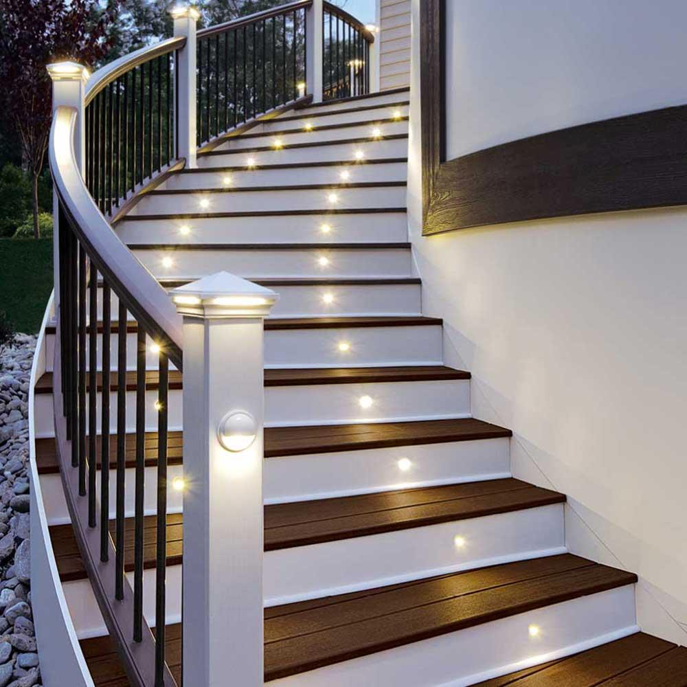 LED Stair Light Bronze 4 Pack BZRISERLED4PKC Home Improvement