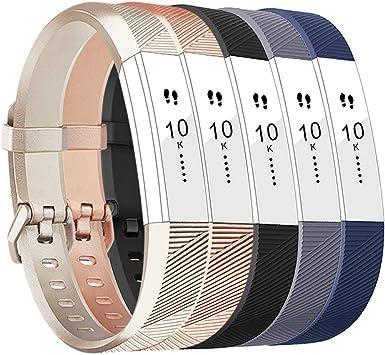 2 Pack Tobfit Bracelets Compatible avec Fitbit Alta de Replacement Cuir Bracelets Fitbit Alta HR Bracelet R/églable /él/égant et Classique Bande pour Fitbit Alta et Fitbit Alta HR