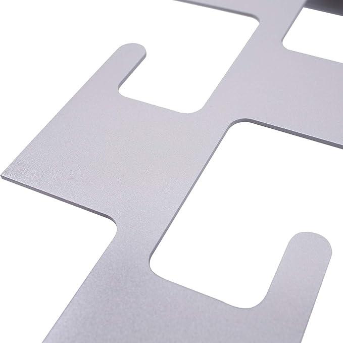 SemuUp - Perchero de Pared (Metal, 5 Ganchos), Color Negro, Blanco y Gris, Metal, Gris, W: 17 cm H: 59 cm D: 10 cm