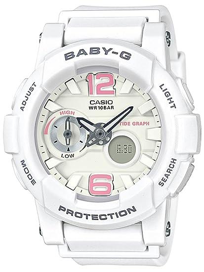 Casio Baby-G Mujeres Blanco bga180be-7b Resina Ana-Digi ...