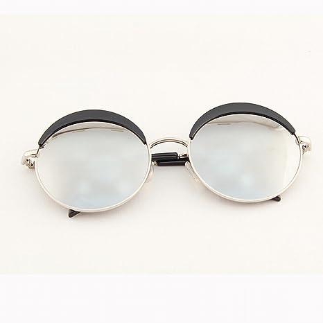 XW Gli Occhiali da Sole Esterni Anti-uv ad Alta Definizione Occhiali da Sole Donne Occhiali da Sole Occhiali da Sole Tondo,B,Convenzionale
