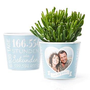 19 Hochzeitstag Geschenk Blumentopf ø16cm Geschenke Zur