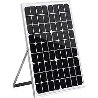 20W 18V Solar Panel Kit Mono Caravan Boat Battery Charger Regulator Connector