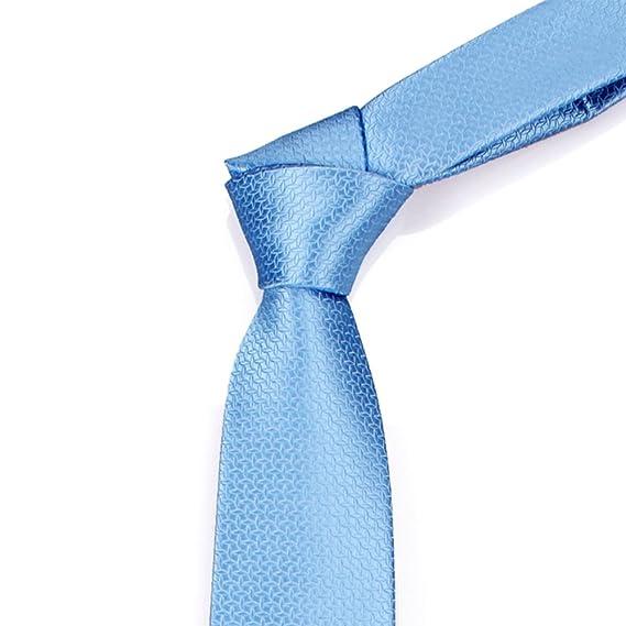 Corbatas Hombres Negocio Formal Usar Ciudad Azul De Negocio Tie ...
