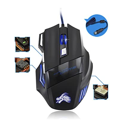 Red 1200 DPI Backlight LED Optical USB Wired Gaming Mouse Mice For Pro Gamer PC