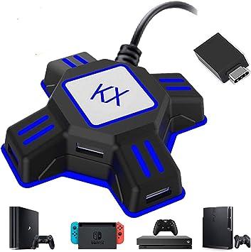 GZW-Shop Convertidor de Teclado y ratón, Adaptador KX de Controlador de Mando de Juego para ratón/Teclado portátil USB 2.0 Compatible con PS4/Xbox One/Nintendo Switch/PS3: Amazon.es: Electrónica