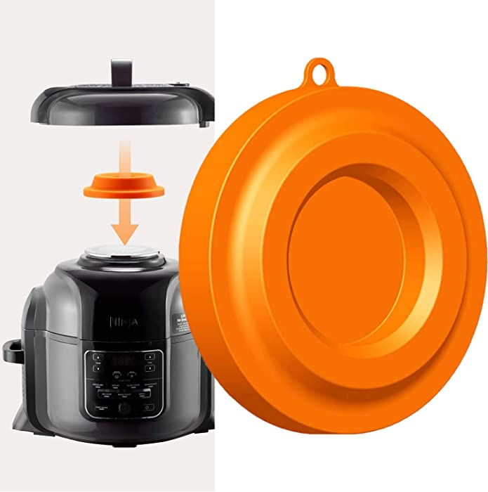 Lid Stand Silicone Lid Holder Accessories Compatible with Ninja Foodi Pressure Cooker and Air Fryer 5 Qt 6.5 Qt and 8 Quart (Orange)