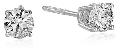 7d75467df Image Unavailable. Image not available for. Color: 1/2 cttw Diamond Stud  Earrings 14K White Gold