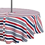"DII CAMZ37335 TC OUTDOOR ZIP PATRIOTIC STRIPE 60"" ROUND, w/Zipper"