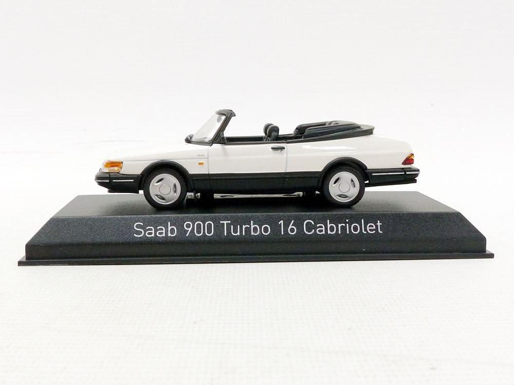 Bianco /900/Turbo 16/Cabriolet 1992/Saab Veicolo in Miniatura Norev/ Scala 1//43 810043