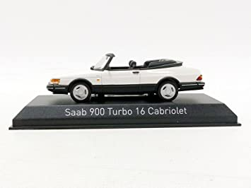 Amazon.com: Norev – 16 Convertible 1992 Saab 900 Turbo Vehicle Miniature, 810043, Scale 1/43 White: Toys & Games