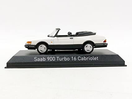 Norev 900 Turbo 16 Cabriolet 1992 Saab vehículo en Miniatura, 810043, Blanco, (Escala 1/43: Amazon.es: Juguetes y juegos