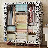 GL&G Wardrobe Closet Portable Oxford cloth Free Standing Storage Organizer Storage & Organisation Home finishing – Portable, Detachable, and Solid wood Lightweight Clothing Closet,N,52''67''