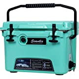 Milee-Heavy Duty Cooler 20QT Sea Foam Green (Included $28.0 Accessories) Basket and Cup Holder are Free