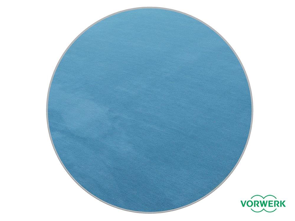 Vorwerk Bijou petrol der HEVO® Teppich   Spielteppich nicht nur für Kinder 200 cm Ø Rund