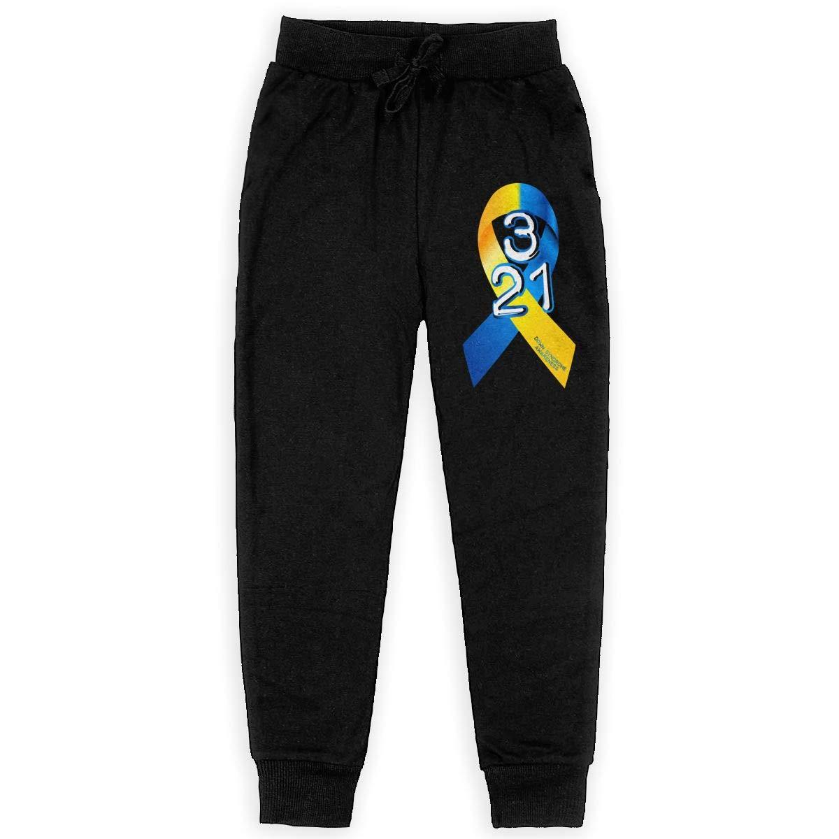 XHAKZM71 Teenagers Teen Girls Down Syndrome Awareness Printed Sweatpants Yoga Jogger Active Pants