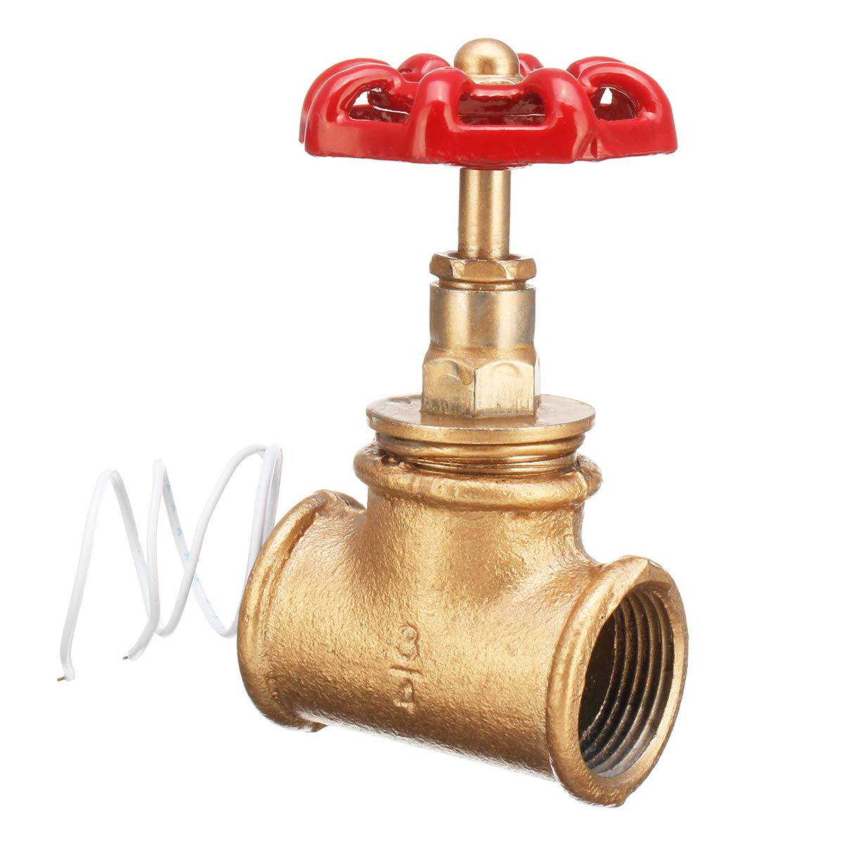 MYAMIA Vintage Steampunk 3//4   Stop Valve Light Switch Red Handle W//Wire for Pipe Lamp