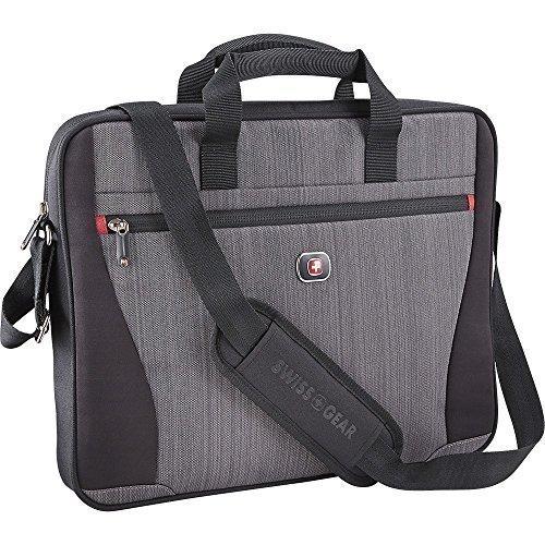 Swissgear - Structure 17 Laptop Case - Gray Heather/Black by Swiss Gear
