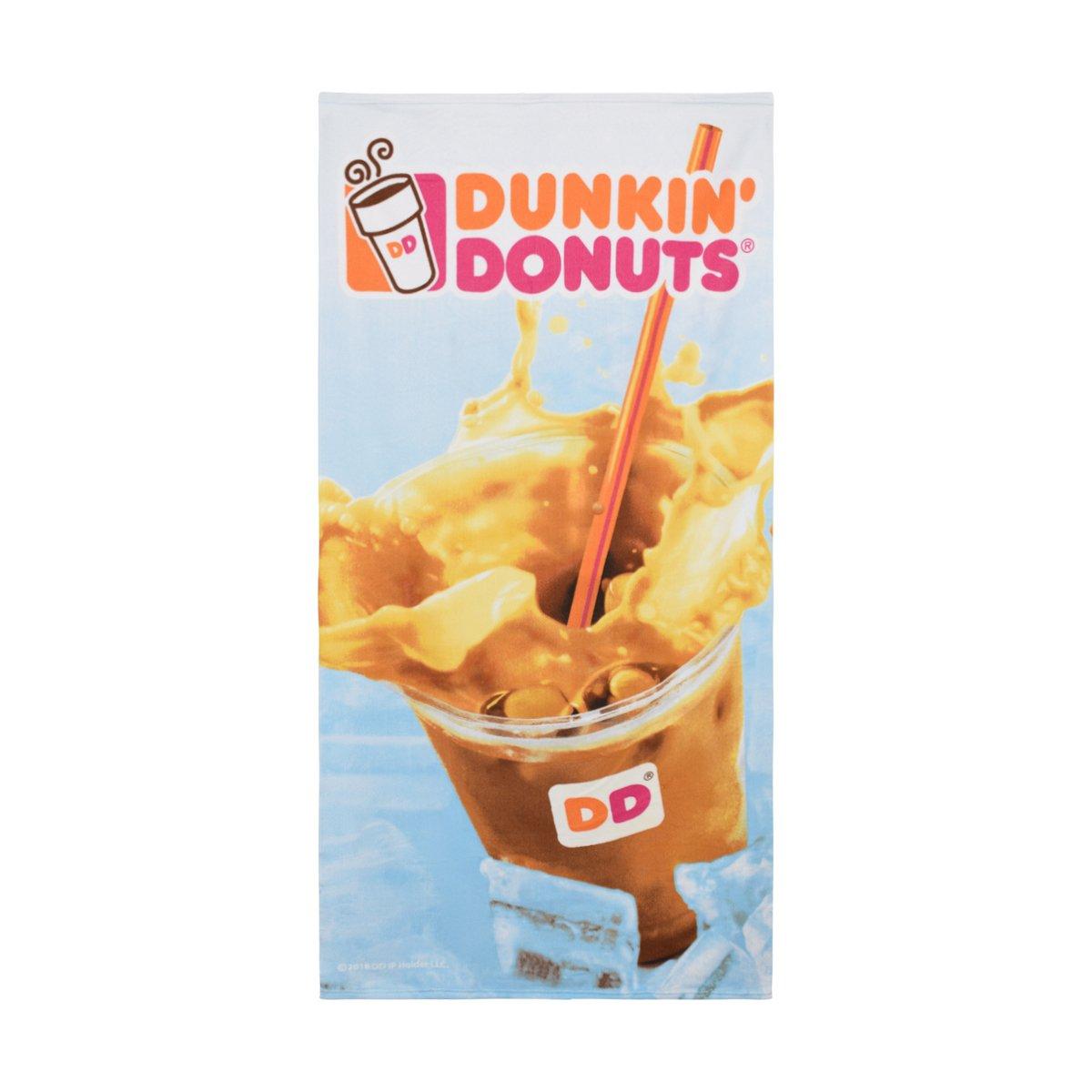 Dunkin' Donuts Microfiber Beach Towel (Iced Coffee)