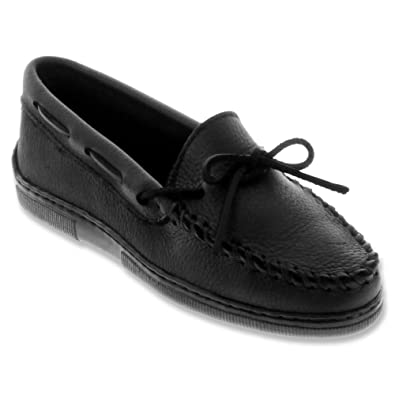 Minnetonka Moosehide Classic Women's Slip On 5 B(M) US Black