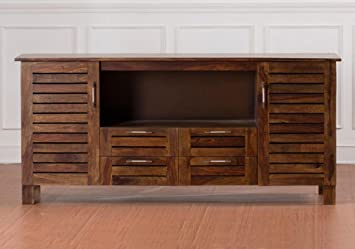 Contemporary Style Wooden Sideboard Tv Cabinet With 4 Drawers And 2