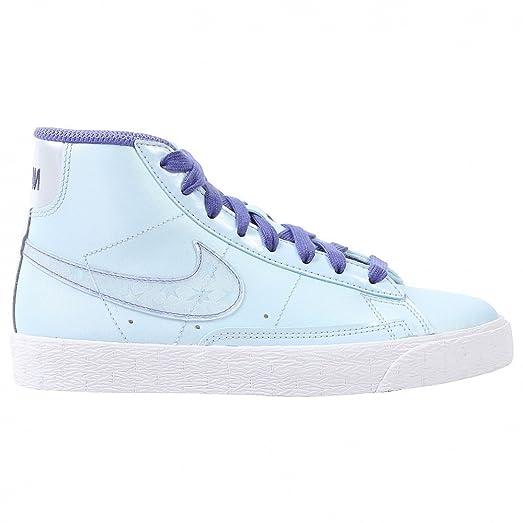Nike Blazer Mid (Kids) - Blue / Metallic Platinum Violet-White, 4