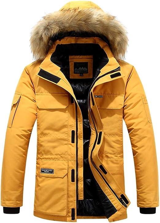 Lomelomme Homme Veste à Capuche Hiver Manteau Multi Poche