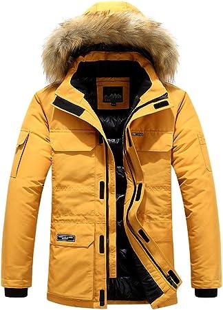 Homme Veste à Capuche Hiver Manteau Multi Poche Blouson