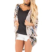 RJDJ Long Sleeve, Women Chiffon Loose Shawl Print Kimono Cardigan Top Cover up Blouse Beachwear