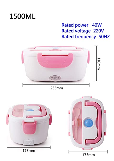 Fiambrera portátil eléctrica Bento termo contenedor de alimentos ...