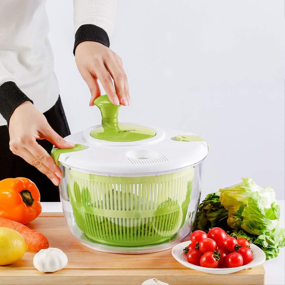 Vegetable shaker Dehydrator Fruit Salad Dumper Leaching Basket Hand Shakes Off Water Washing Basket Green by yueguan