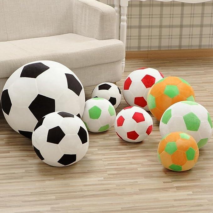 Shufei Almohada De Pelotas De Fútbol Peluche Pelota De Fútbol Felpa Mullida Pelota De Fútbol Suave Duradera Deporte Deportes Juguete Regalo para Los Niños.