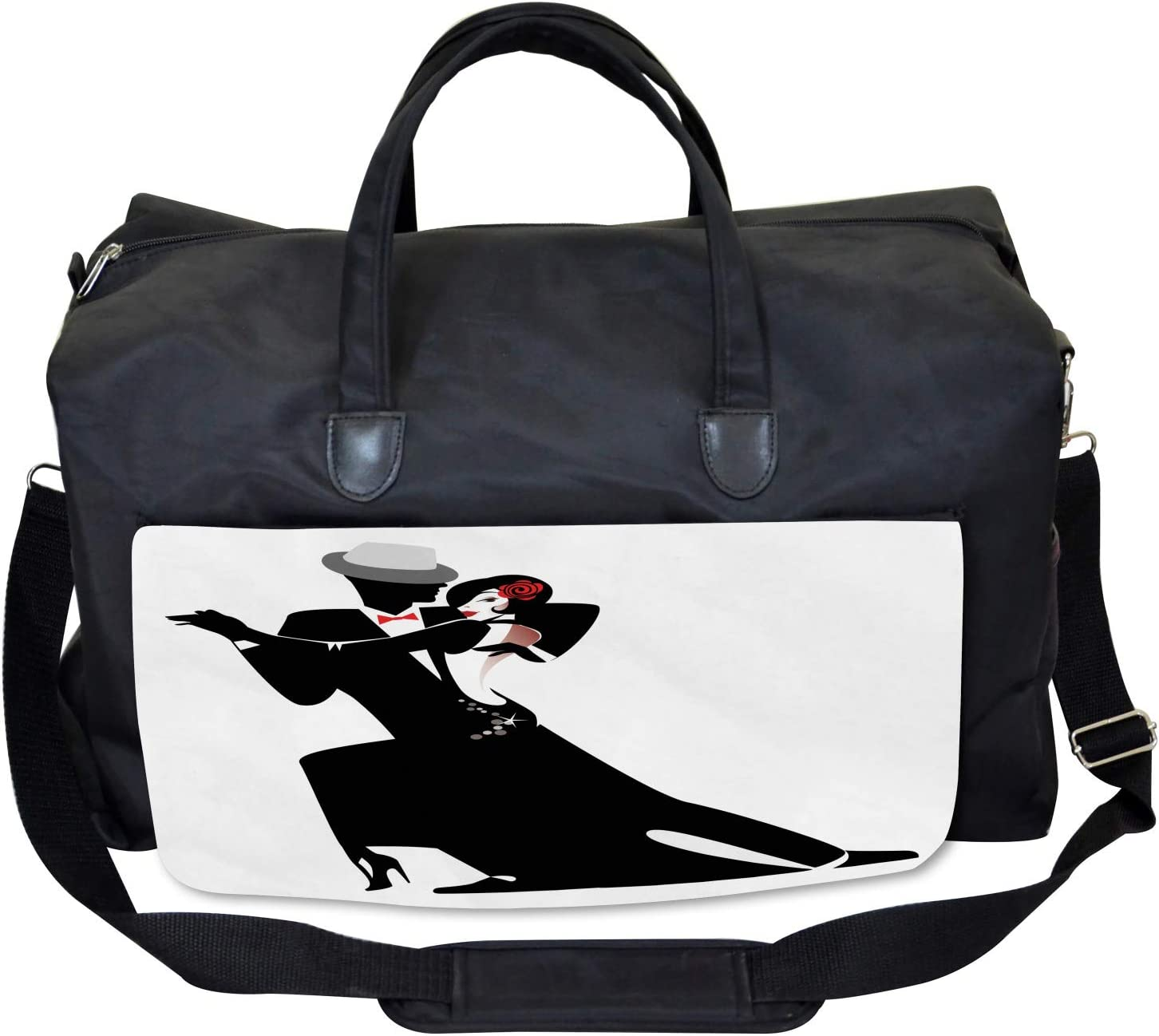 Romantic Dance Partners Ambesonne Retro Gym Bag Large Weekender Carry-on