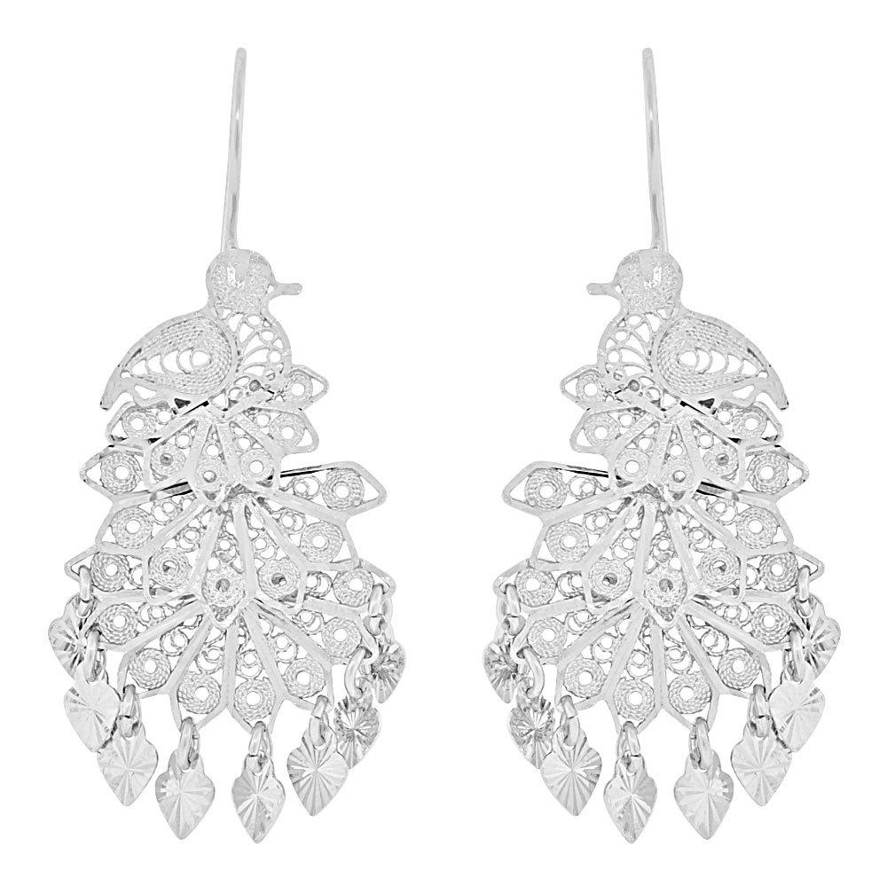 Amazon.com: 14 K oro blanco y rodio, Fancy – Lámpara de ...