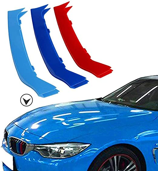 3D MotorSport Front Grille Trim Strips Grill Cover Decoration Stickers For BM-W 4 Series F32 F33 420i 428i 435i 2013-2018 Radiator Grill Stripes Decor Auto Accessories Protective 3 colours