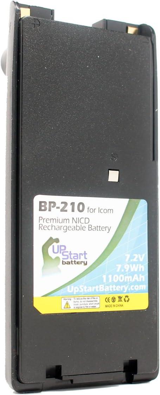 2/x Unidades/ 1100/mAh, 7,2/V, Ni-CD /bater/ía de Repuesto con Clip/ /ICOM ic-t3h para Icom BP-210/Radio de Dos v/ías bater/ía