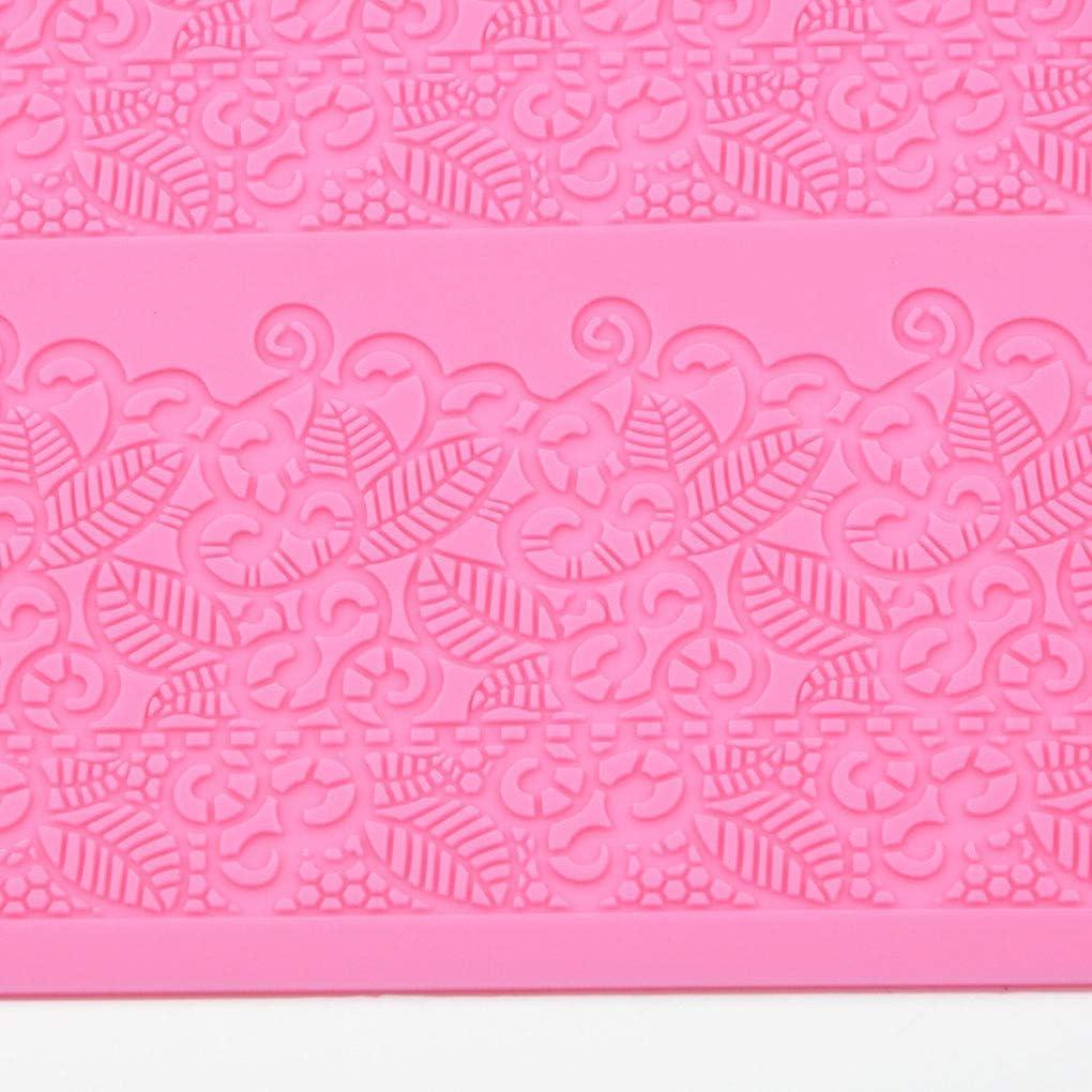 DJYJD Cuisson Dentelle Tapis Silicone g/âteau Moisissures Motif Fleur de Mariage Bricolage Fondant Sucre Craft Pad Outil de Couleur al/éatoire