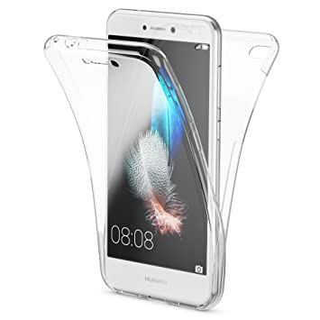 NALIA Funda 360 Grados Compatible con Huawei P8 Lite 2017, Delantera Trasera Protectora Movil Silicona Carcasa, Ultra-Fina Gel Transparente Doble ...