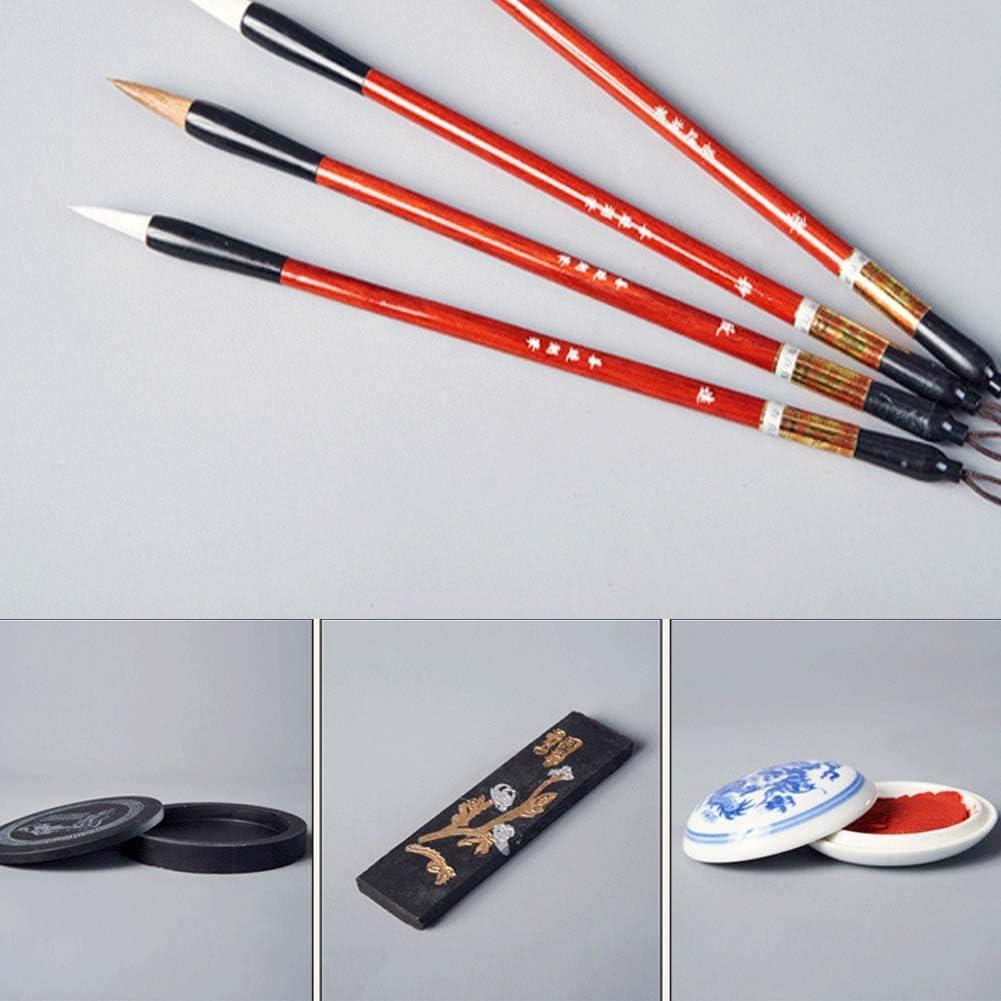 Kanji 10 Items Japanese Calligraphy Sumi Brush Pen Writing//Painting Set Mozentea Chinese