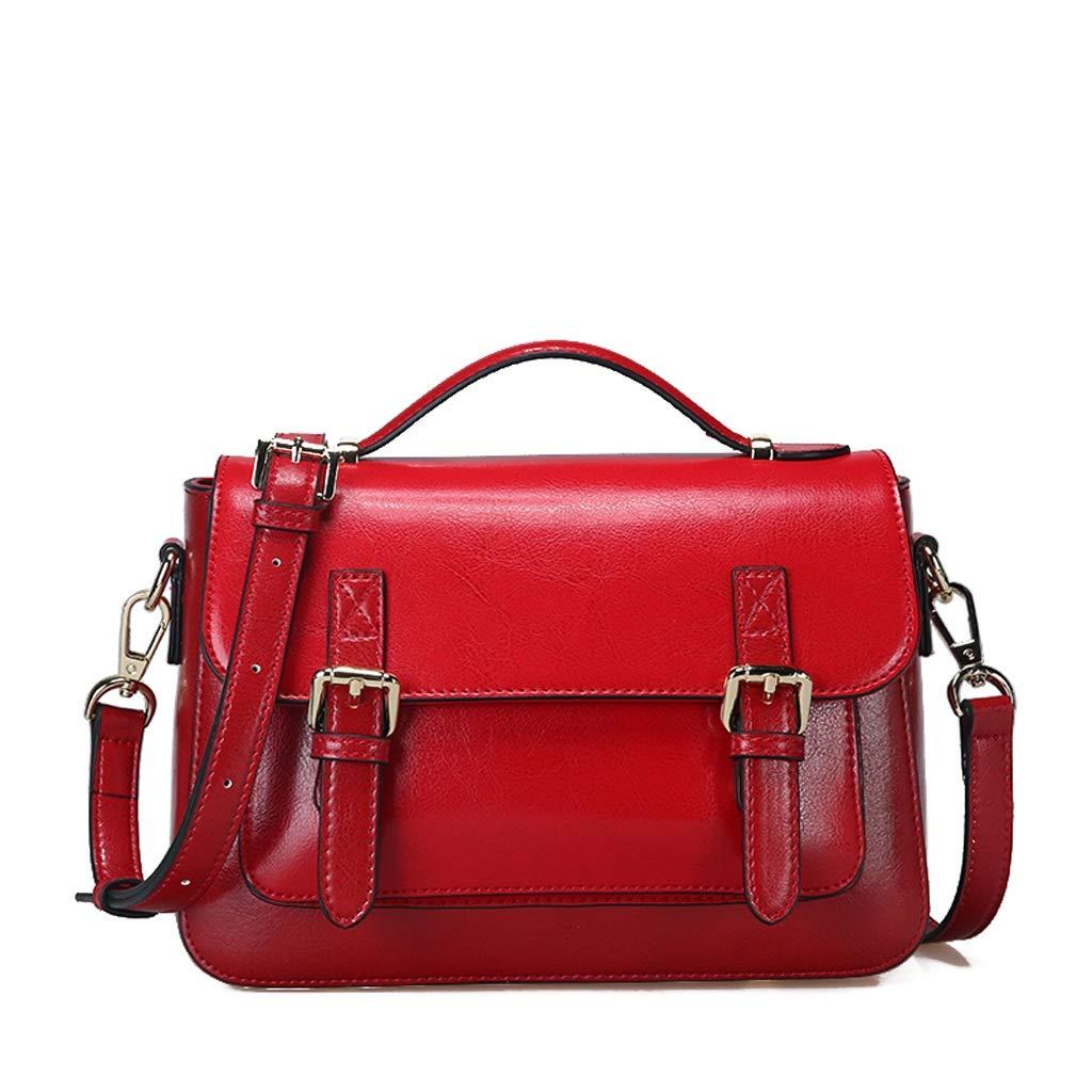 Color : A, Size : 104.37 inches Kmgjc Female Bag Retro Leather Messenger Bag