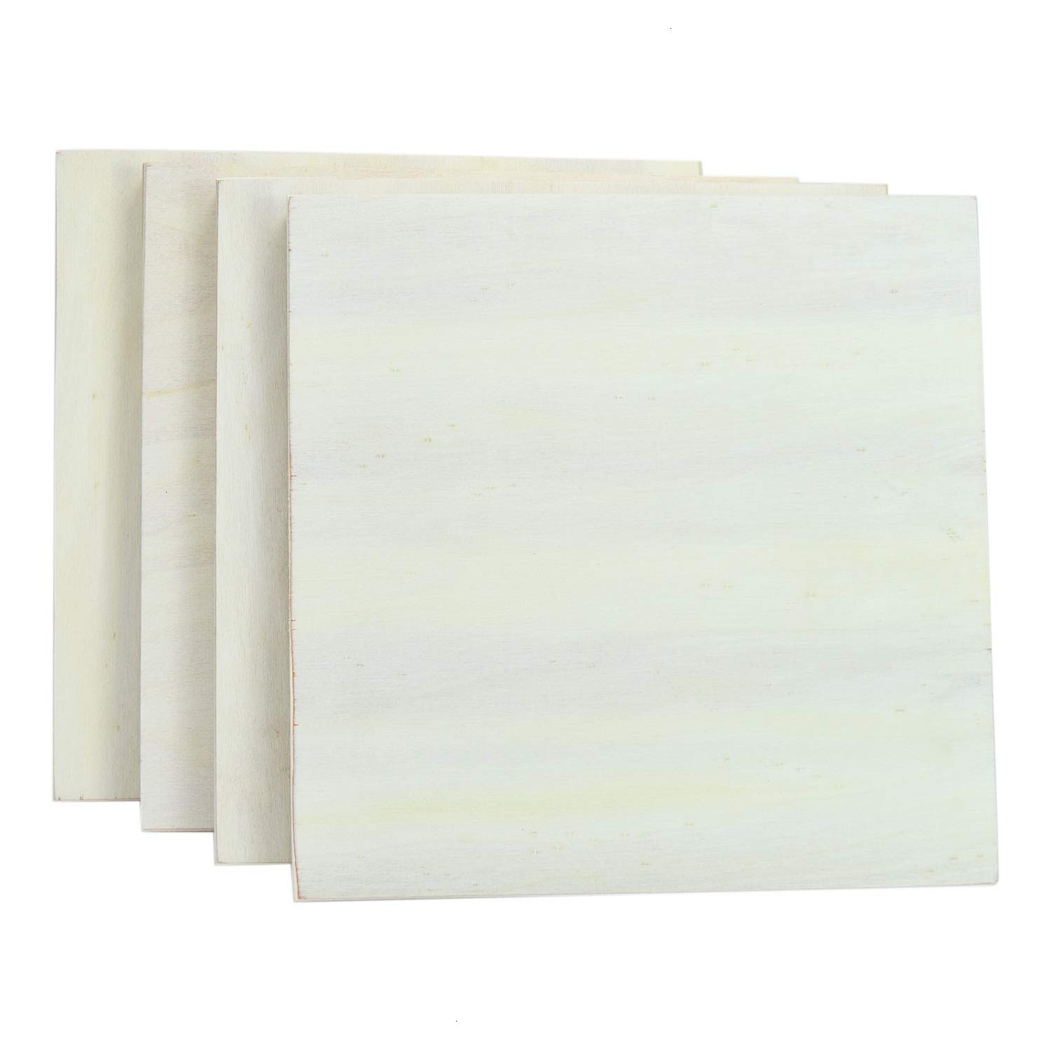 Wooden Canvas Panels YoleShy 4 Pcs 11.8 x 11.8 Unfinished Wood Cradled Painting Panel Boards for Arts /& Craft