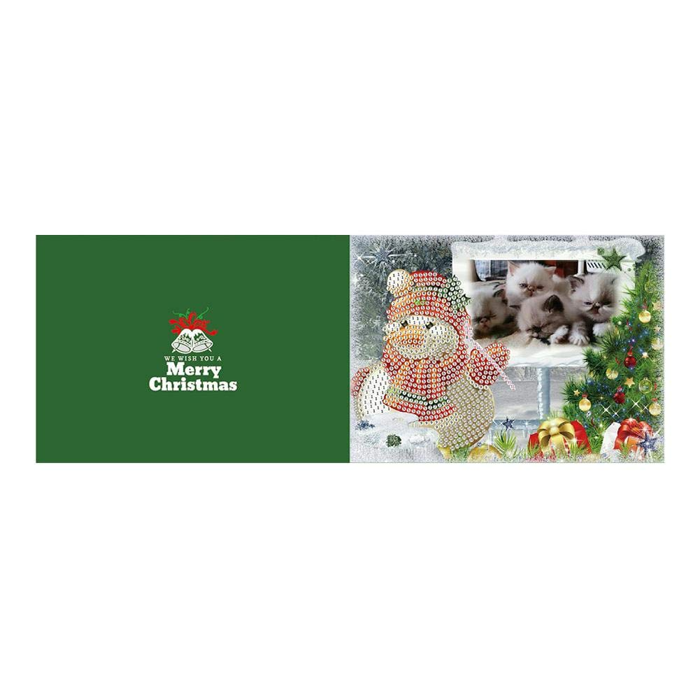 5D DIY Diamond Painting Embroidery Kits Cross Stitch Mosaic Picture,Christmas Greeting Cards akaddy